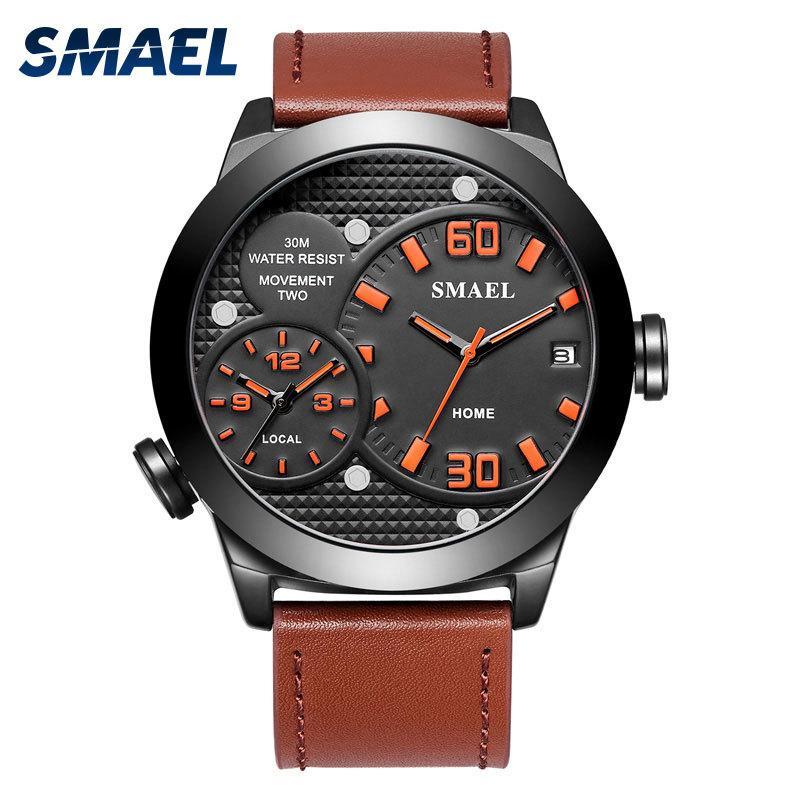 Numérique analogique Sports de montre-bracelet pour homme étanche pour hommes Relogio Quatz Montres Bracelet 1314 Alliage Horloges Hommes Montres Big Com cadran Q0524