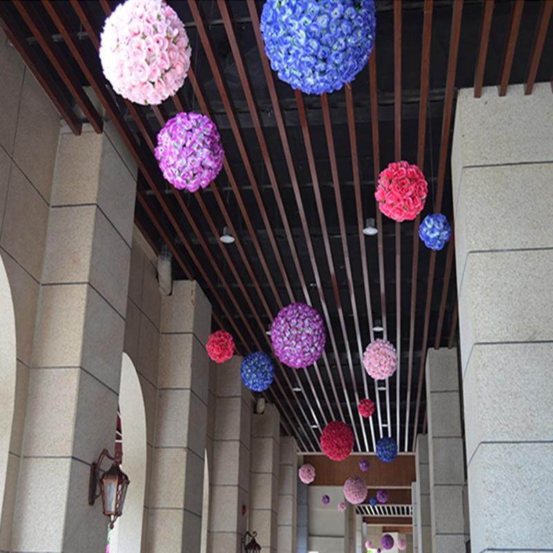 20 سم 8 بوصة الزهور الاصطناعية محاكاة التشفير تقبيل روز زهرة الكرة لزينة الزفاف في السنة الإمدادات الاحتفالية