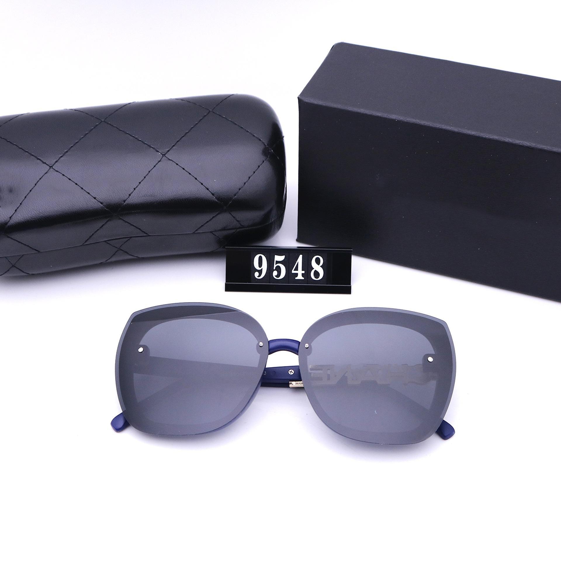مصمم أزياء نظارات عالية الجودة العلامة التجارية المستقطبة عدسة نظارات الشمس النظارات للنساء النظارات إطار معدني 548 مع مربع حالة