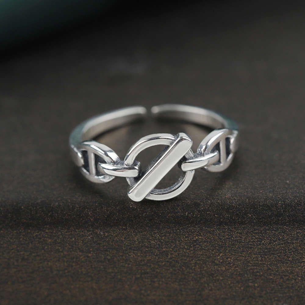 Кольцо S925 Чистый серебряный свиньи для женщин