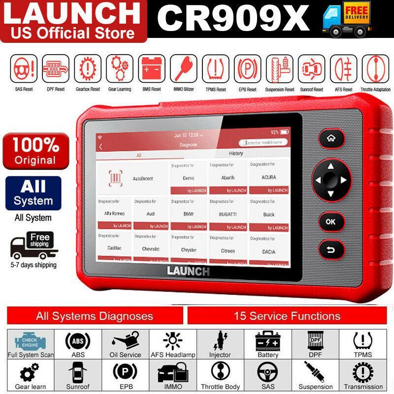 Nuovo prodotto! Avvio X431 CRP909X Pro OBD2 Scanner Sistema completo ECU DPF TPMS Strumento diagnostico
