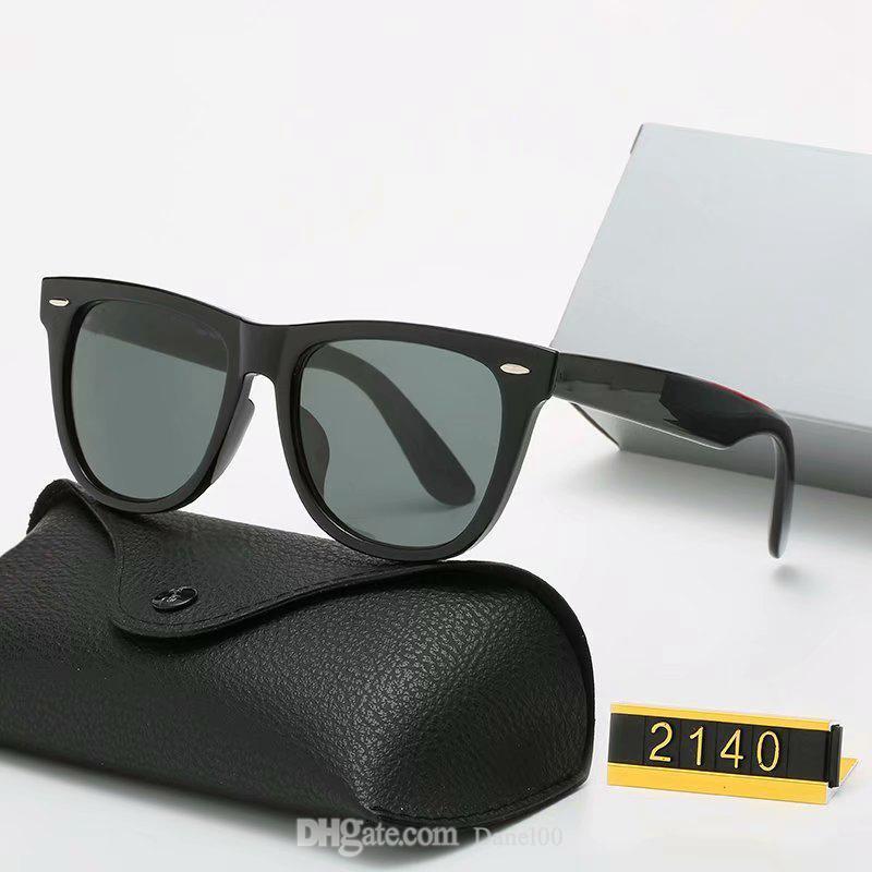 Ray Classic Brand Round Sunglasses Luxury Design UV400 Eyewear Band Bands in metallo Gold Frame Designer Occhiali da sole Uomo Donna Specchio 3002 Occhiali da sole Polaroid Lenti in vetro Polaroid