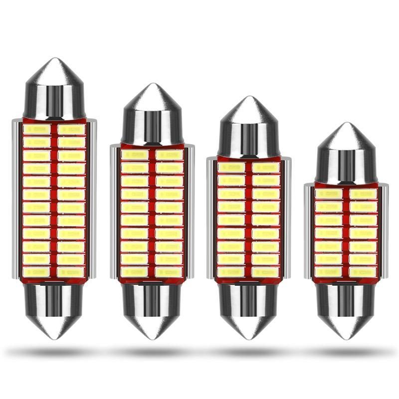 36mm 36mm 39mm 41mm c5w c10w super brilhante 4014 carro smd led festoon luz canbus erro livre desgraça lâmpada lâmpada lâmpada novidade luz