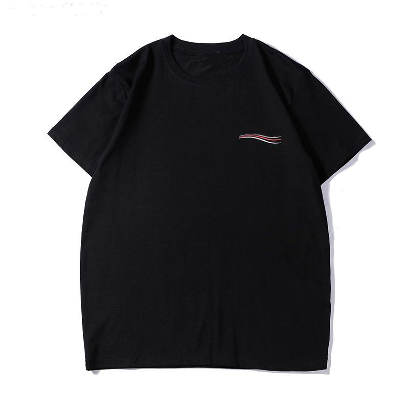 2021 Mens T Gömlek Yaz Mektup Baskı Tasarımcısı T-shirt Erkek Kısa Kollu T Gömlek Giysileri