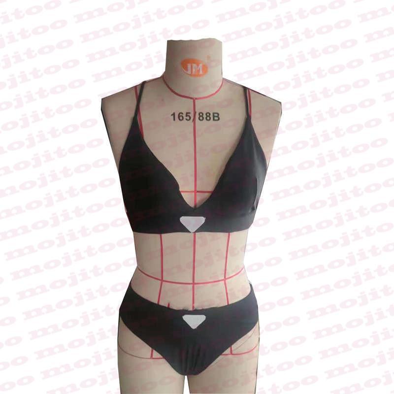 مصمم البيكينيات ملابس السباحة مع إلكتروني مثلث شارة المنسوجات مبطن رفع المرأة ملابس السباحة الصيف نمط
