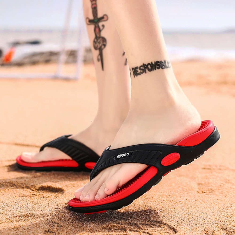 2020 bahar yeni sandalet erkek düz alt ev terlik moda çevirme flop