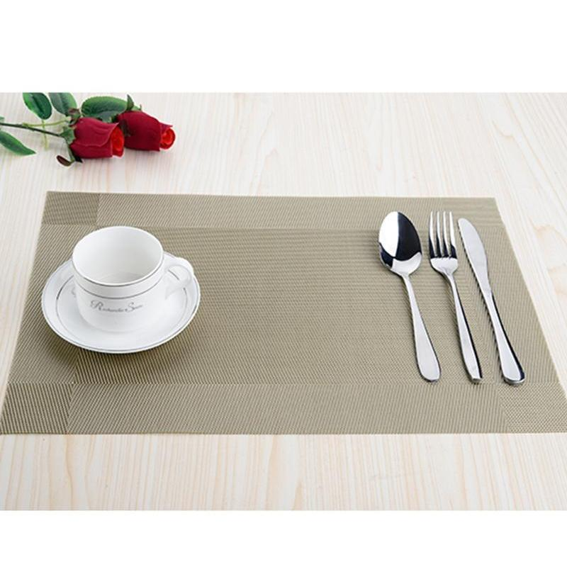Wholesale-top Finel 2016 8pcs/lot Pvc Plaid Placemats For Dining Table Runner Linen Place Mat In Kitchen jllZTl xmhyard