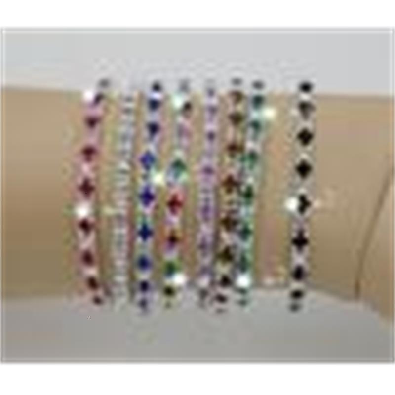 Stock 1 Hot 20 pcs /! Lot en rangée de printemps coloré Strass Bracelet Tennis 8 - Couleur (Z305)