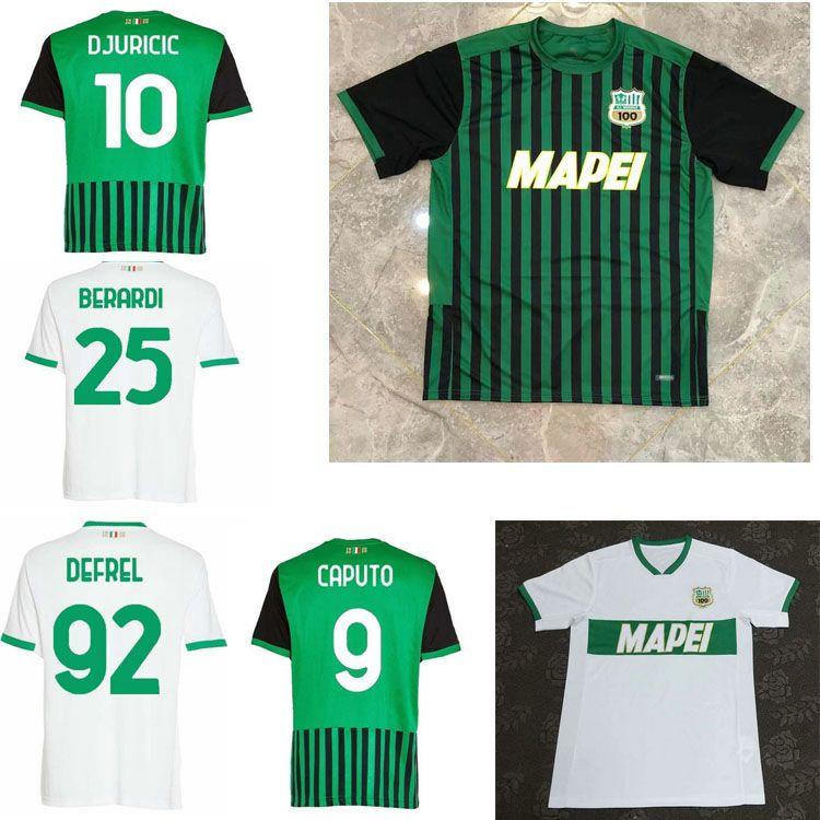 2020 2021 US Sassuolo Calcio Soccer Jerseys Home Away Chiriches Djuricic Locatelli Berardi Boga Caputo Defrel 20 21Man Shirt de football