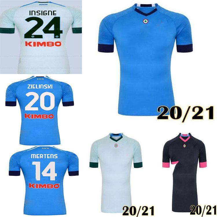 20 21 Napoli Jersey Jersey Versão Versão Futebol Camisa 2020 2021 Koulibaly Camiseta de Fútbol Insigne Milik Maillots H.Lozano Merte