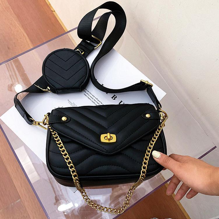 Luxurys 디자이너 가방 여성을위한 작은 PU 가죽 어깨 가방 2020 새로운 지갑과 핸드백 여성 여행 크로스 바디 가방 숙녀 CH