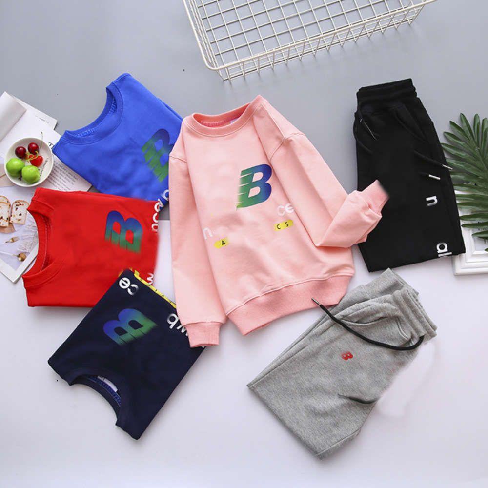 Enfants Clothespring N 2021 + B Coréen Coloré Lettre Imprimer Pull à col rond et pantalon