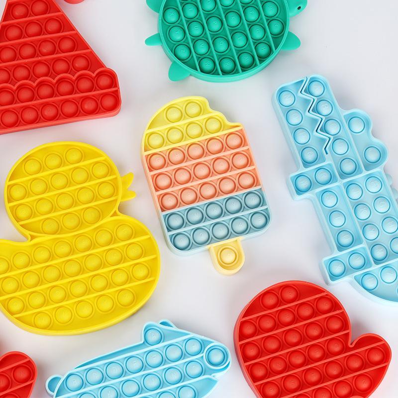 Новое поступление Красочные декомпрессионные игрушки сенсорные толчок Pop пузырь сенсорные игрушки аутизм беспокойство стресс подстрека для студентов офисных работников