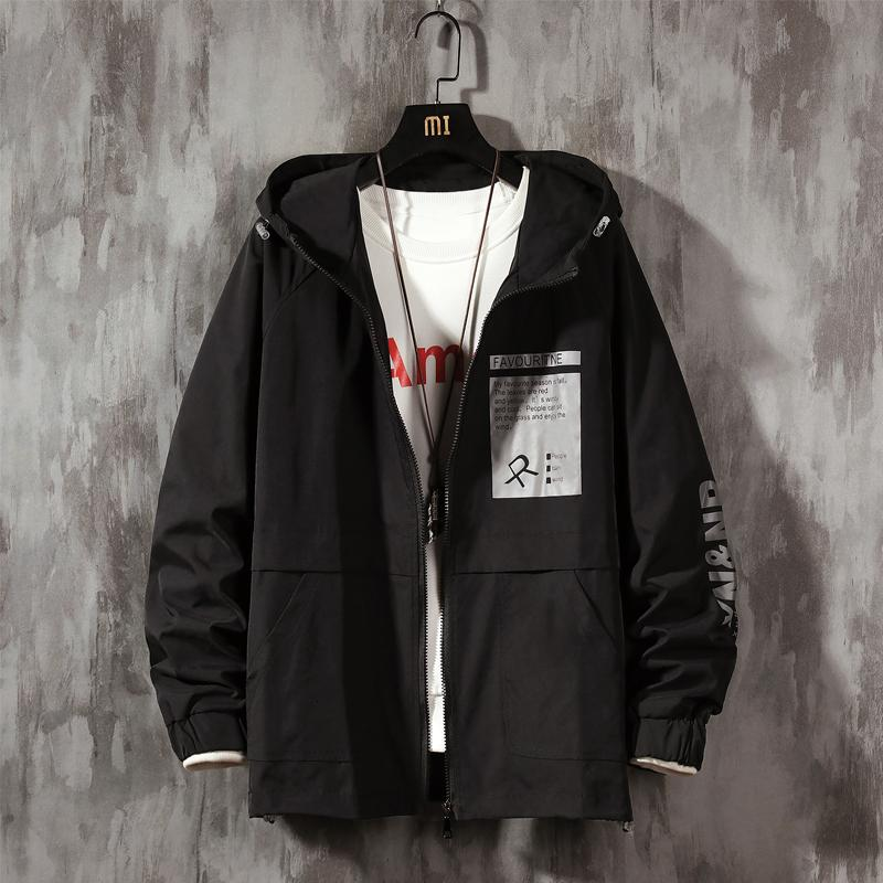 Шкафы негабаритные графические напечатанные женщины 2021 Новая куртка с корейским с капюшоном уличной одежды мужские куртки 1Y9C