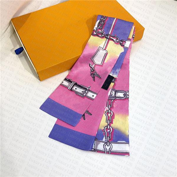 Foulard de soie de haute qualité Mode bandeau Foulard Foulumeaux Soie Silk Silk Top Grade Silk Foulard Bandes Chaud Femmes Écharpes X12-6CMX6