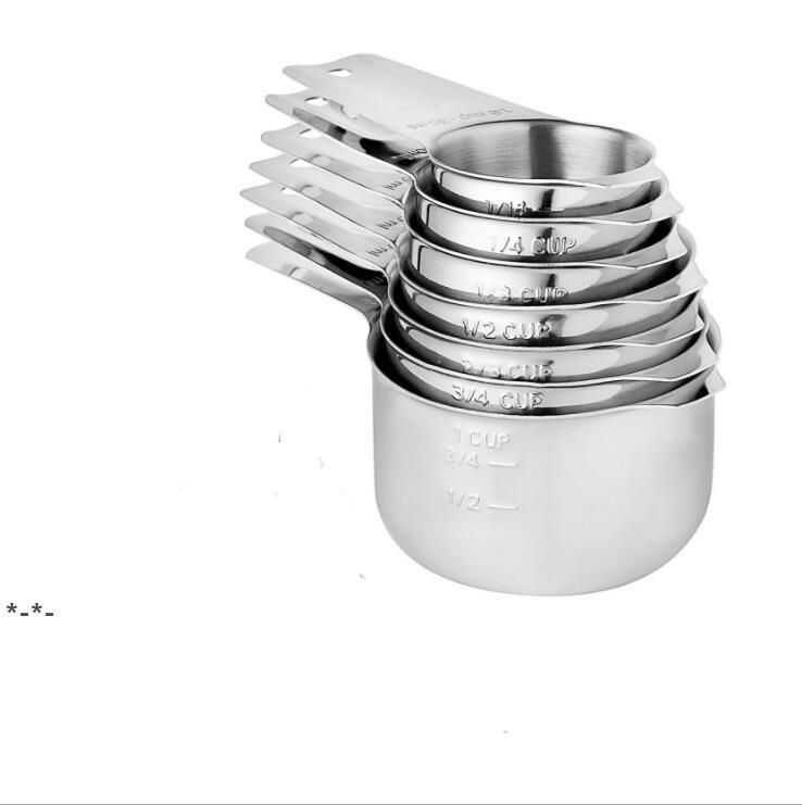 13 paquet de tasses de mesure et de cuillères de cuillères réglées à la tasse de mesure liquide ou à la tasse à sec douille de tasses à mesurer des tasses de nidification de cuisson de cuisson HHE8825