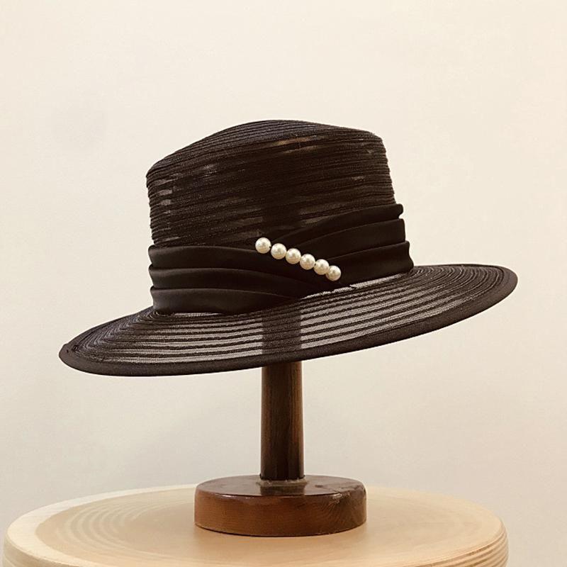 3 colori Fashion Pieghevole Protezione del sole Protezione da sole Cappelli da spiaggia Estate Beach Cappello da spiaggia per signora Semplice Vintage Wide Brim Cappelli