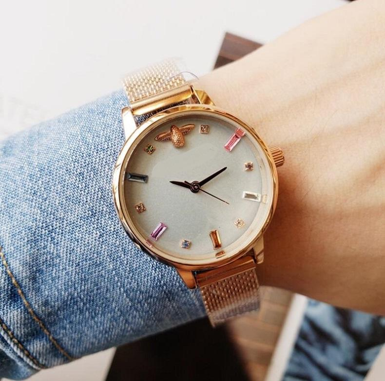 High Quality Quartz Watches 31mm Luxury Watches BEE Watches for Women Fashion Gold Wristwatches
