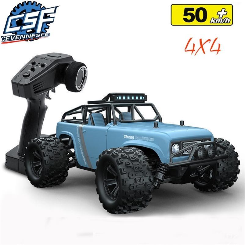 CEVENNESFE 1:18 Profession à la pleine échelle 4WD Escalade RC 50km / H 2.4g Télécommande haute vitesse hors route CAR TOYS 210729
