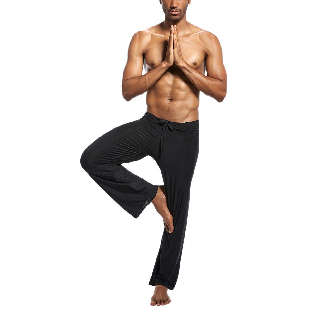 Men Ice Silk Long Pants Flirty Lounge Loose-Fitting Sport Yoga Pant Pyjama Trouser
