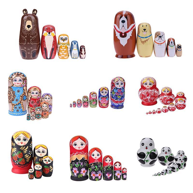 20 стилей вложенности деревянные кукла игрушки неокрашенные DIY эмбрионы русские гнездовые игрушки Matryoshka Dolls дети изучают игрушки L0308