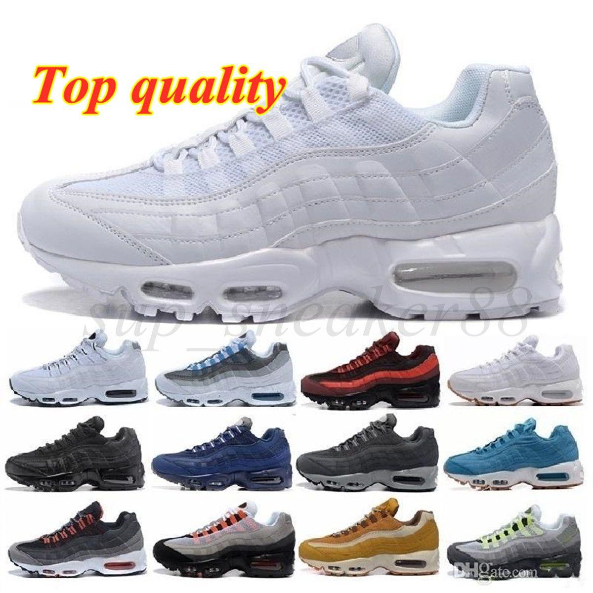 Erkekler OG Yastık Donanma Spor Ayakkabı Yüksek Kaliteli Chaussure Yürüyüş Çizmeler Run Ayakkabıları 95s Sneakers Boyutu 36-45