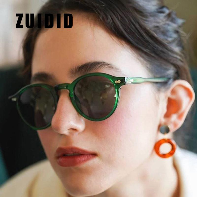 Зуидид зеленый круглые маленькие солнцезащитные очки для женщин модный бренд дизайнер ретро солнцезащитные очки дамы классические покупки UV400 оттенков