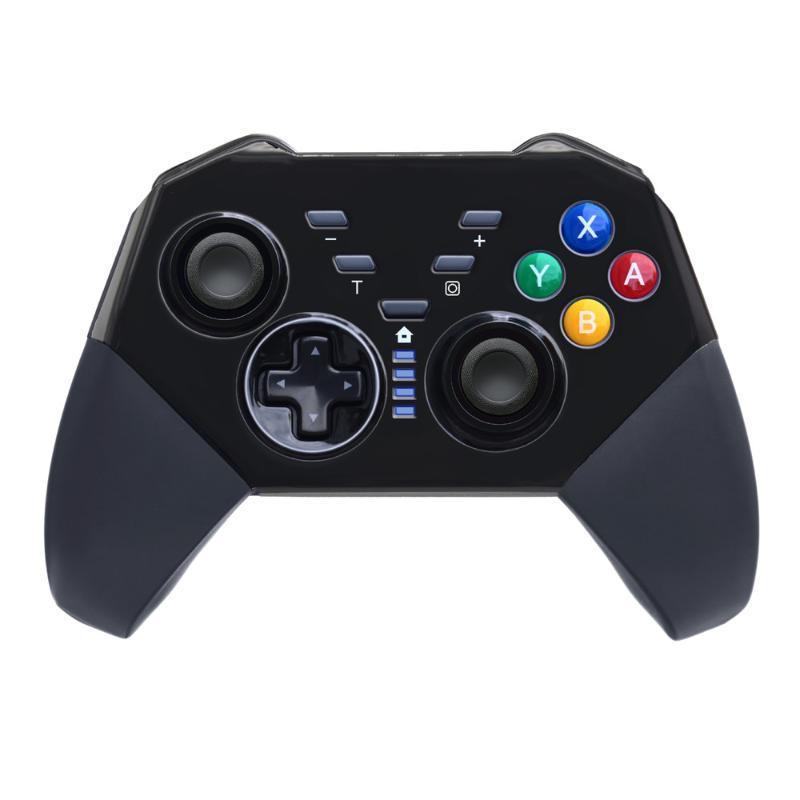 تحكم ألعاب المقود Switch Pro Controller سماعات بلوتوث لاسلكية لوحدة التحكم مع مفاتيح Turbo متوافقة مع كمبيوتر / أندرويد 3 في 1 Funct