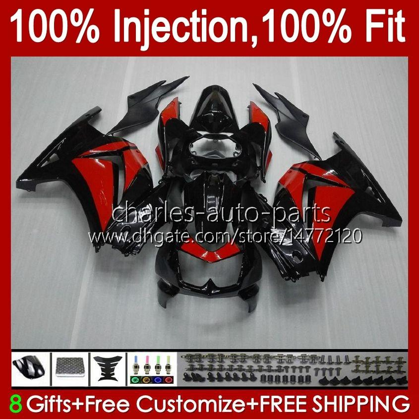 Injection For KAWASAKI NINJA ZX250R EX250 2008 2009 2010 2011 2012 13HC.13 EX250R factory red ZX-250R ZX250 ZX 250R 08 09 10 11 12 Fairing