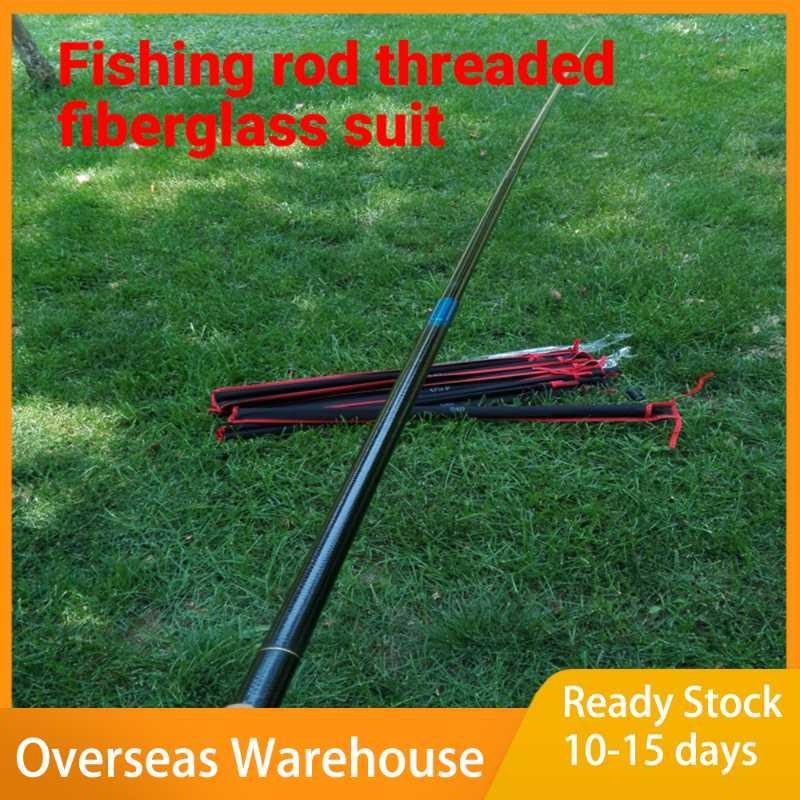 Спиннинг рыбы стержня снасти для рыбалки резьба из стекловолокна армированная пластиковая комбинация супер твердый короткий поток