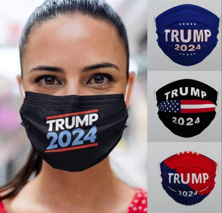 ABD hisse senedi DHL Trump 2024 Kullanımlık Yıkanabilir Yüz Maskesi Dokunmamış Kumaş Toz Geçirmez Haze-Proof Nefes Maskeleri Toptan