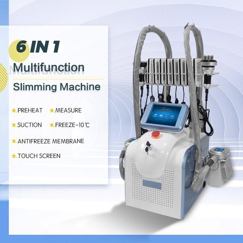 2021 Cryolipolyse Fat Freeze Machine Lipolaser Utilisation personnelle Cryothérapie Lipo Laser Cavitation ultrasonique RF Minceur de beauté amincissant