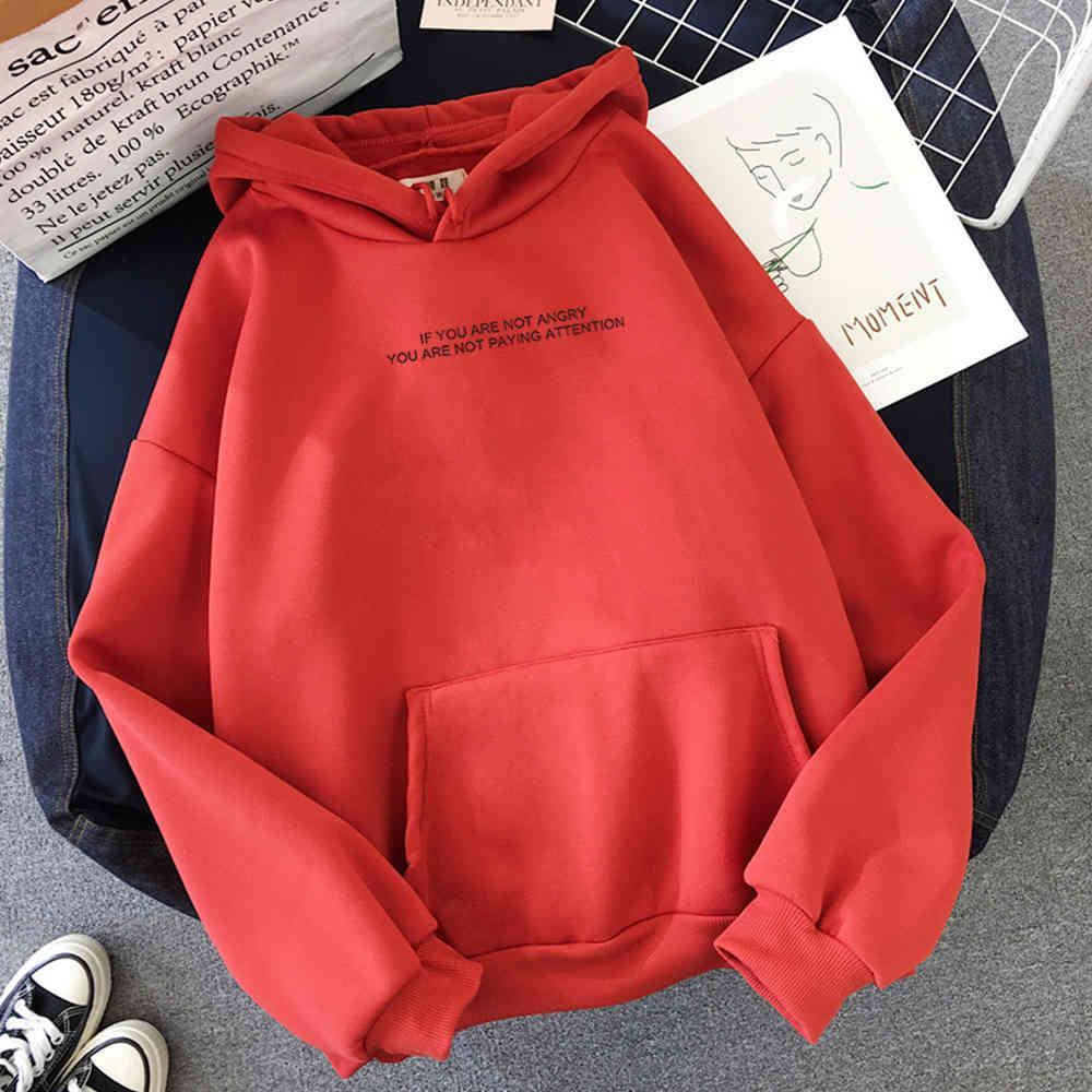 Damen Hoodies Jugendliche Mädchen Lustige Buchstaben Übergroße Hoodies Frauen Sweatshirts Harajuku Kapuzenschweißlange Mouw Herfst Kleidung 0708