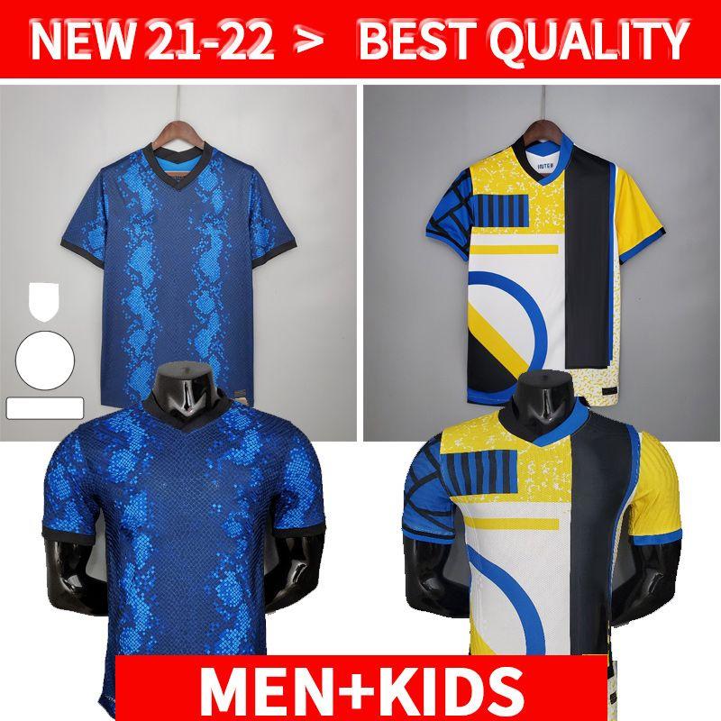 Spielerversion Inter 2021 2022 Fussball Jersey Lukaku Milan Vidal Barella Laustaro Eriksen Alexis Hakimi 21 22 Fußball-Hemd Uniformen Männer