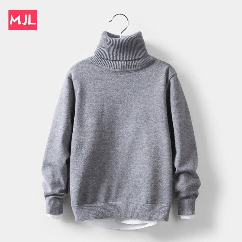 MJL Baby Mädchen Winterkleidung Feste Kinder Strickpullover Weiche Kleidung Für Mädchen Rollkragenkinder Kinderkleidung 2 bis 10 Jahre