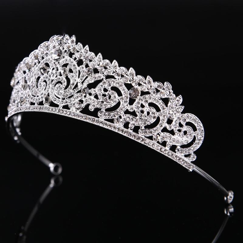 Saç Klipler Barrettes 2021 Gelin Düğün Taç Takı Aksesuarları Kafa Bandı Tiara Gelin Pageant Parti