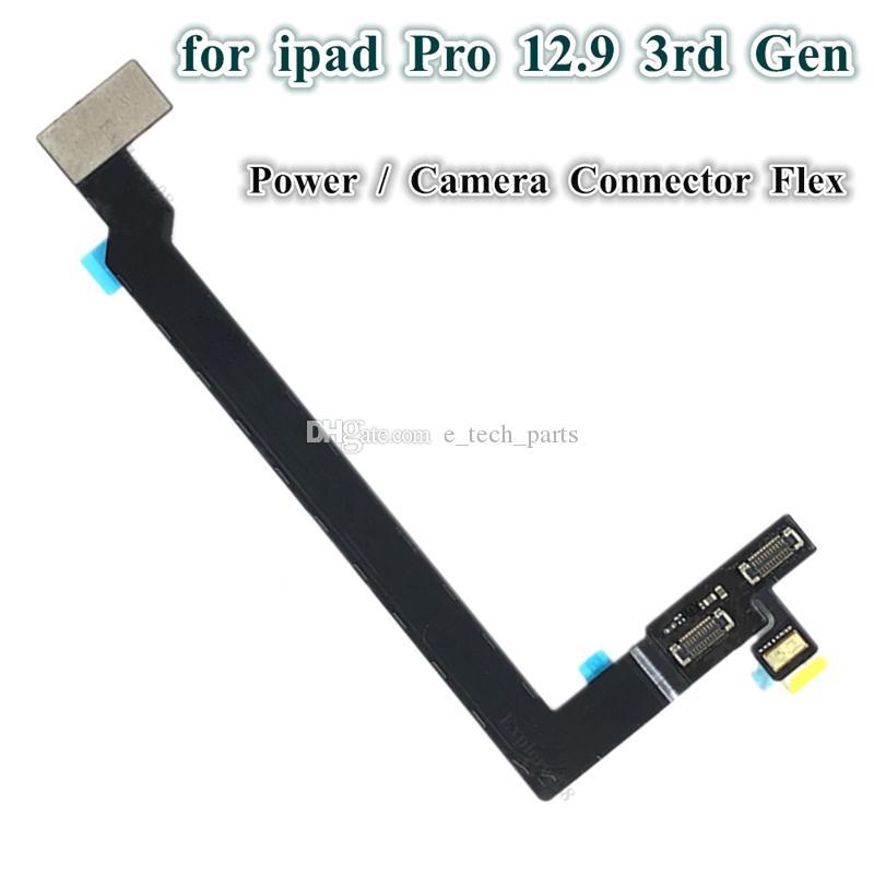 IPAD Pro için 10 adet 12.9 inç 3RD Nesil A1876 A1895 A2014 Kamera Güç Düğmesi Bağlayıcı Adaptörü Flex Kablo Yedek Parçalar