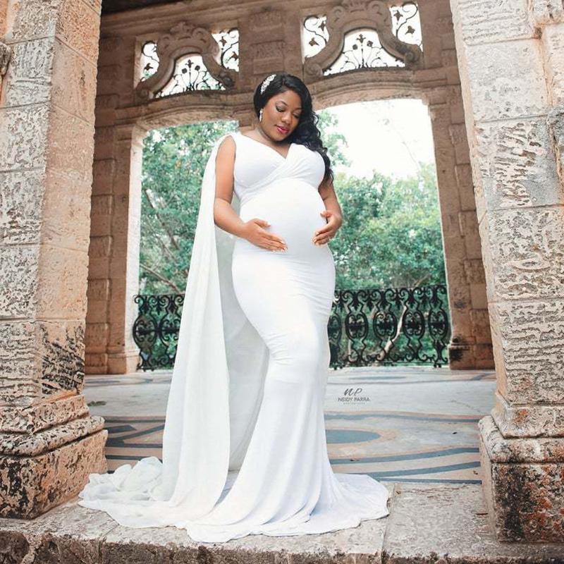 Vestidos de verano Mujeres embarazadas Fotografía Piso sin mangas Maternidad Vestido de maternidad Vestido de maternidad para foto