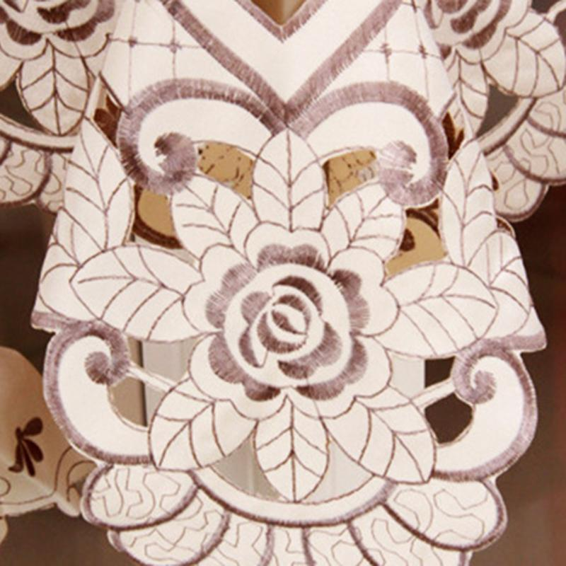 Table Napkin Floral Crochet Chair Cover Beige Lace Overlays Design For Dressers End Tables KI