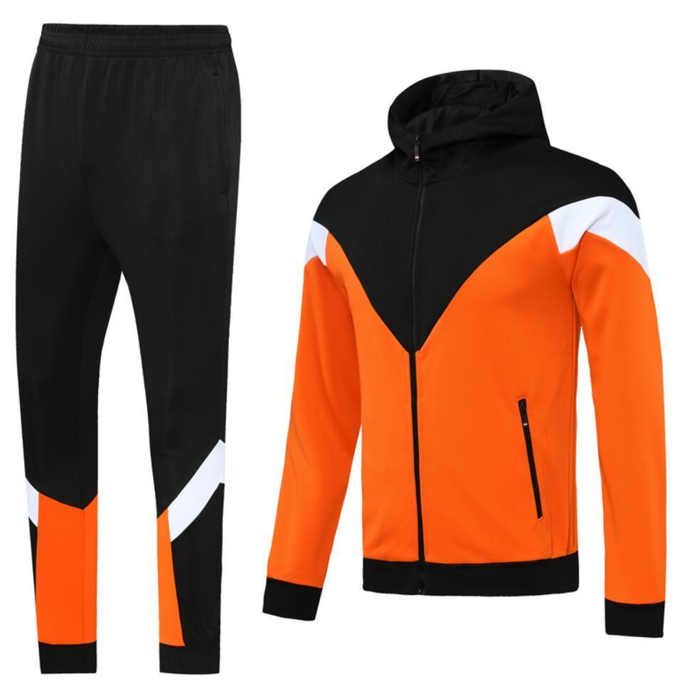 0001 style classique veste à capuche à capuche Maillot de pied survèlement complet Zipper à glissière Taille S-XL