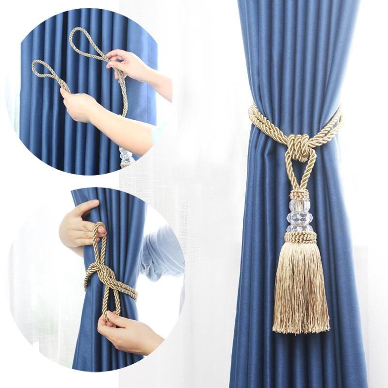 1 stück Neuer Kristall Perlen Quaste Vorhang Raffinerie Dekorative Vorhang Krawatte Wohnkultur Schnur für Vorhänge Schnalle Seil Zimmer Zubehör