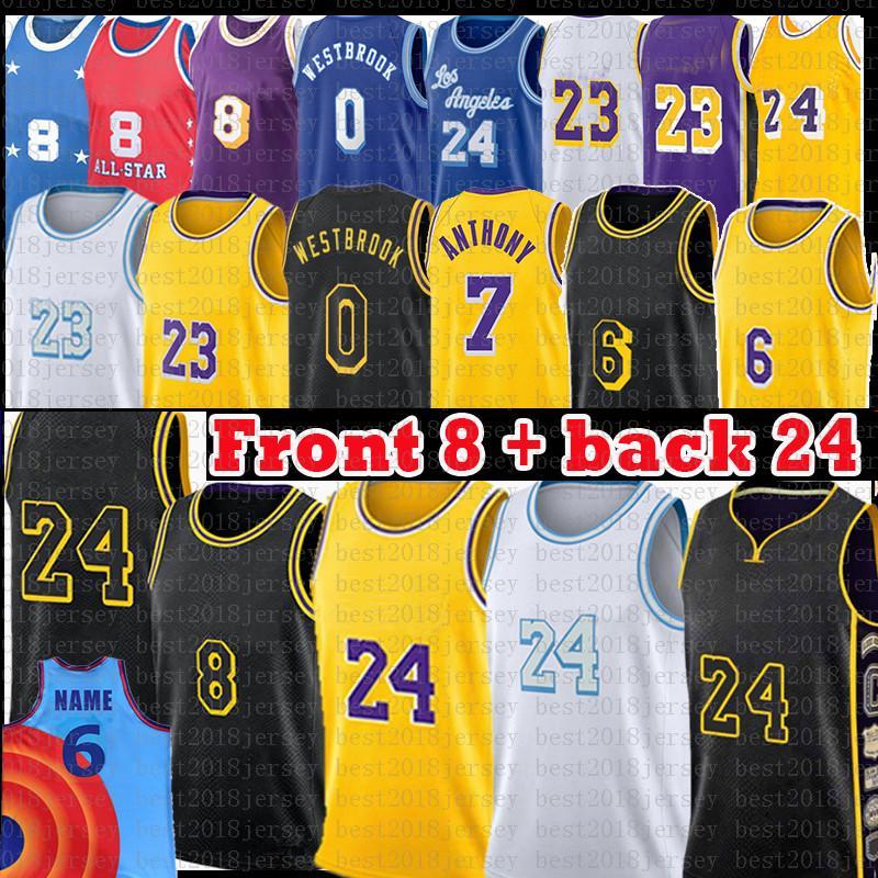 Los LeBron 23 6 James Angeles Kobe 24 8 Bryant Lakers Basketball Jersey Anthony 3 Davis Kyle 0 Kuzma Earvin 32 Johnson Shaquille 34 O'Neal Mamba
