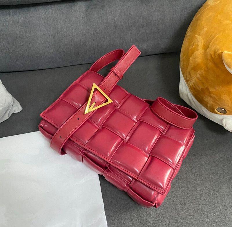 Strickstil Mode Designer Handtasche Ledertasche Damen gewebt Messenger Kreuz Körper Temperament Casual Business Check Luxus Hochwertige Schultertaschen 23 26cm