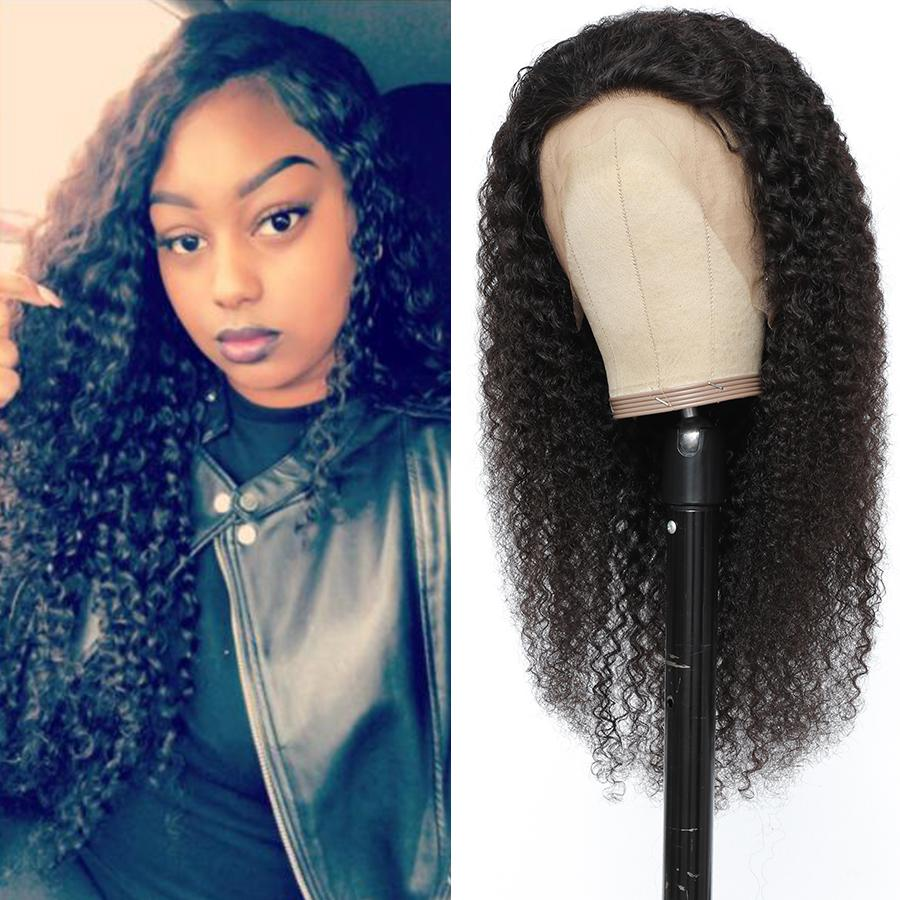30 32 34 36 Inches Brazilian Human Hair Transparent Lace Frontal Wigs Straight Kinky Curly Body Water Deep Wave 4X4 and 13x4 Lace Closure Wig for Black Women