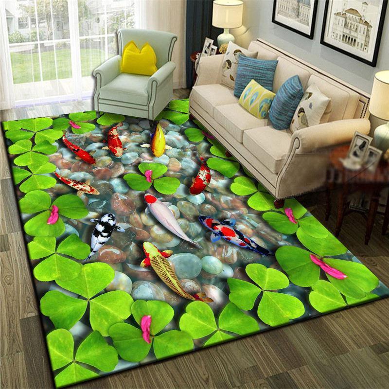 Teppiche 3d Landschaft Meer Welt Teppich Weiche Schlafzimmer Teppiche Fisch Kinder Spielmatte Modern Home Dekorative Bereich Teppich Für Wohnzimmer