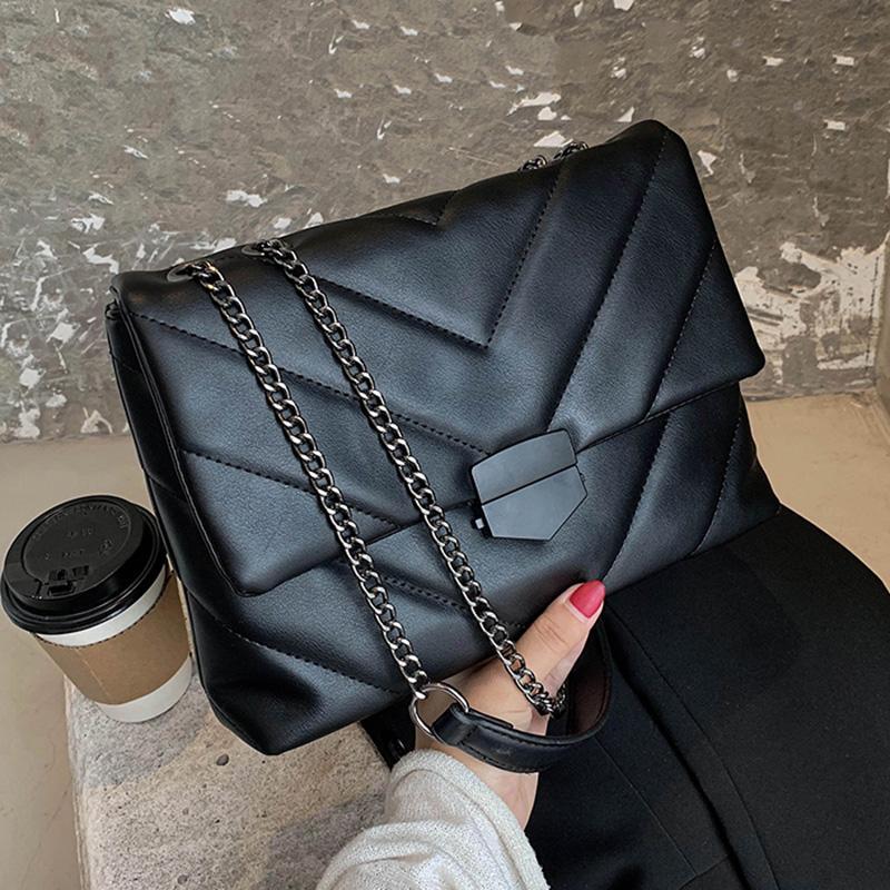 Hilo de bordado para bolsos pequeños Crossbody PU Bolsas de PU Cuero 2021 Bolso de mano Hombro Para Mujer Marca Tendencia Trend MUJERES VKBTD