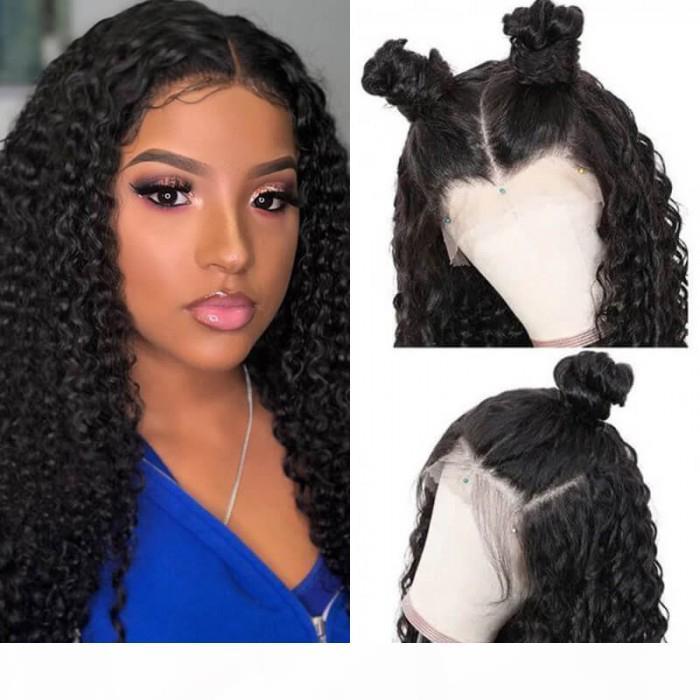 Saç serisi Tutkalsız Dantel Ön Derin Dalga İnsan Saç Dantel Siyah Kadınlar için Büyük Yoğunluk Serisi