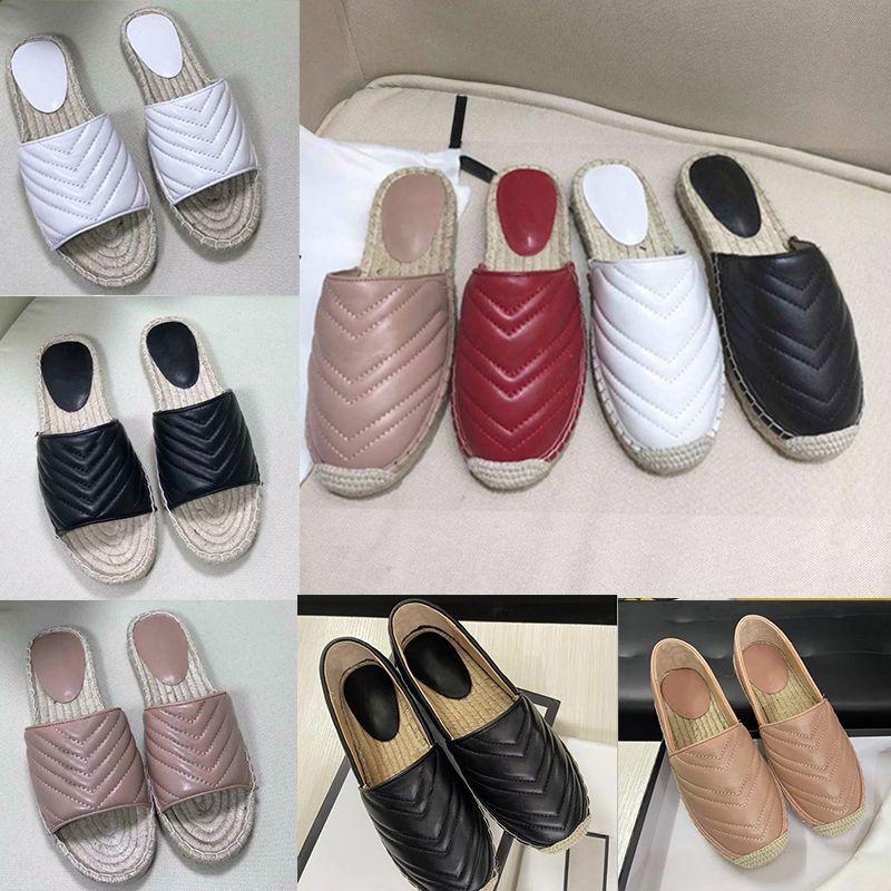 المرأة الجديدة مصمم الشرائح البغال النعال الشقق جلد طبيعي المتسكعون الأحذية مصمم الأزياء سلسلة معدنية السيدات عارضة الأحذية مع مربع