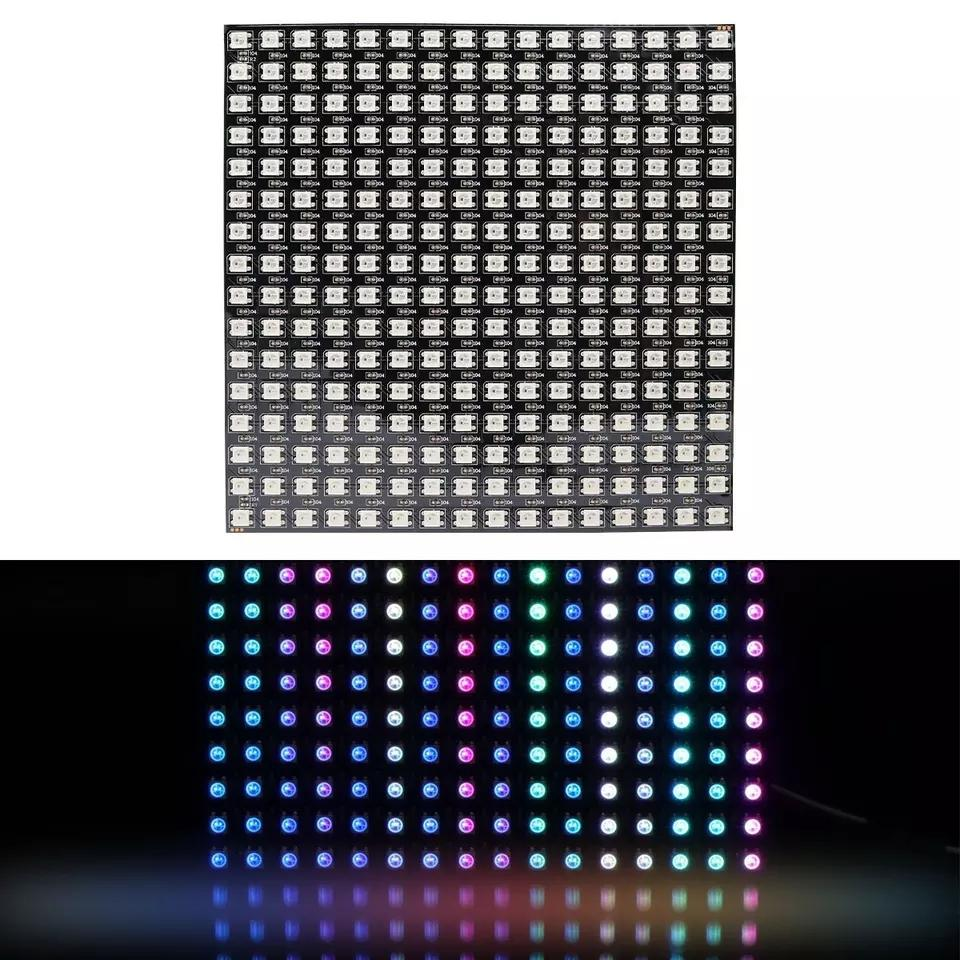 8x8 16x16 8x32 Pixel SK6812 WS2812B Individuell adressierbare digitale flexible LED-Pixel-Bildschirm Gyverlamp DC5V