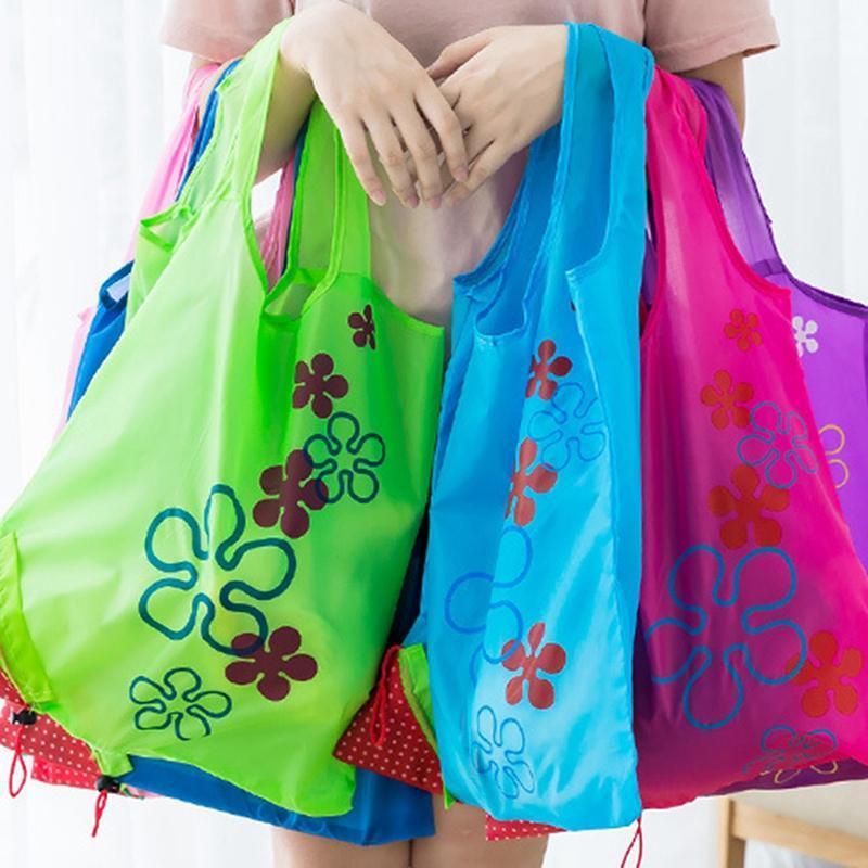 Faltbare Einkaufstüten Umweltaufbewahrungstasche Handtasche Strawberrückgepresste Tasche Wiederverwendbare Folding Lebensmittelgeschäft Nylon Eco Tote